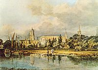 South View of Christ Church, from the Meadows, turner