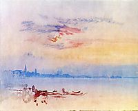 Venice, Looking East from the Guidecca, Sunrise, 1819, turner