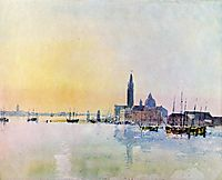 Venice, San Guirgio from the Dogana, Sunrise, 1819, turner
