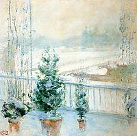 Balcony in Winter, 1902, twachtman