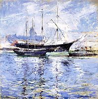 Bark and Schooner (also known as An Italian Barque), c.1901, twachtman