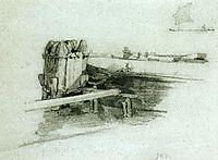 Boat at Bulkhead, c.1878, twachtman