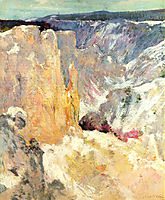 Canyon in the Yellowstone, c.1895, twachtman