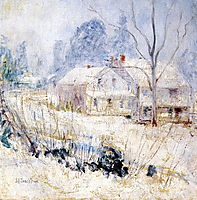 Country House in Winter, 1891, twachtman