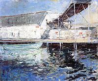 Fish Sheds, Gloucester, Massachusetts, 1902, twachtman