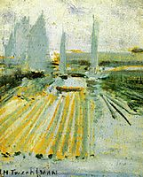 Fog and Small Sailboats, c.1900, twachtman
