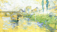French River Scene, 1884, twachtman