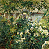 Greenwich Garden, 1899, twachtman
