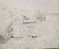 Greenwich Hills in Winter, twachtman