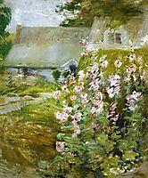 Hollyhocks, c.1892, twachtman