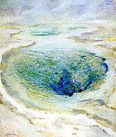 Morning Glory Pool, Yellowstone, c.1895, twachtman