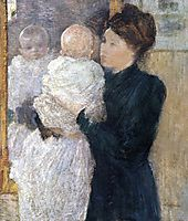 Mother and Child, c.1893, twachtman