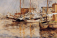 Oyster Boats, North River, 1879, twachtman