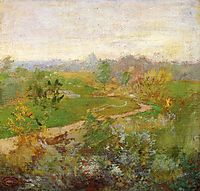 Road over the Hill, c.1899, twachtman