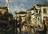 San Trovaso Square, Venice, c.1878, twachtman