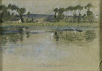Trees Across the River, twachtman