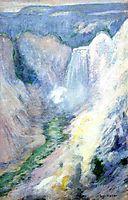 Waterfall in Yellowstone, c.1895, twachtman