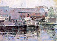 Waterfront Scene Gloucester, c.1901, twachtman