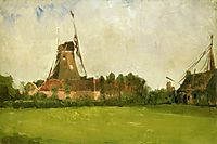 Windmill in the Dutch Countryside, c.1881, twachtman