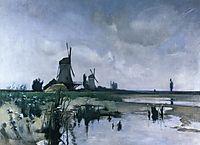 Windmills, c.1885, twachtman