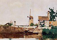 Windmills, Dordrecht, c.1881, twachtman