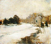 Winter in Cincinnati, c.1882, twachtman