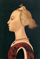 Portrait Of A Lady, 1450, uccello