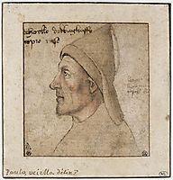 Portrait of man in profile, uccello