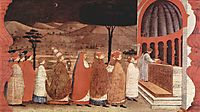 Procession of re-ordained in a church, 1469, uccello