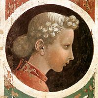 Roundel with Head, c.1435, uccello