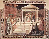 Scene Temple, Mary, 1440, uccello