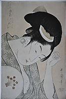 From the series Kasen koi no bu, 1794, utamaro