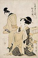 A Geisha in her Lover`s Room, utamaro