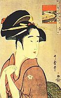 The geisha kamekichi, utamaro