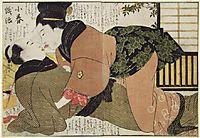 The Kiss, 1803, utamaro