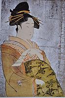 Oiran Hanaogi, c.1794, utamaro