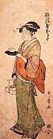 Okita the tea house girl, utamaro