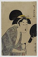 Page from an Album or Illustrated Book, utamaro