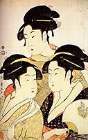 Three Beauties of the Present Day, 1793, utamaro