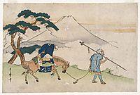Travels Looking at Mt. Fuji, utamaro