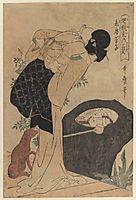 Woman and Child, 1803, utamaro