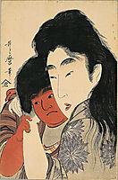 Yama uba and Kintaro, utamaro