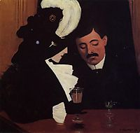 At the Cafe (also known as The Provincial), 1909, vallotton