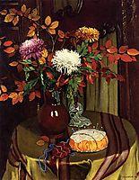 Chrysanthemums and Autumn Foliage, 1922, vallotton