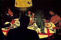 The Dinner, effect of lamp, 1899, vallotton