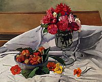 Flowers and Strawberries, 1920, vallotton
