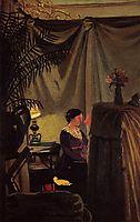 Gabrielle Vallotton at the Piano, 1904, vallotton