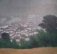 Honfleurin the mist, 1911, vallotton