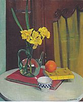 Jug with yellow primroses, 1915, vallotton
