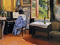 Lady at the Piano, 1904, vallotton
